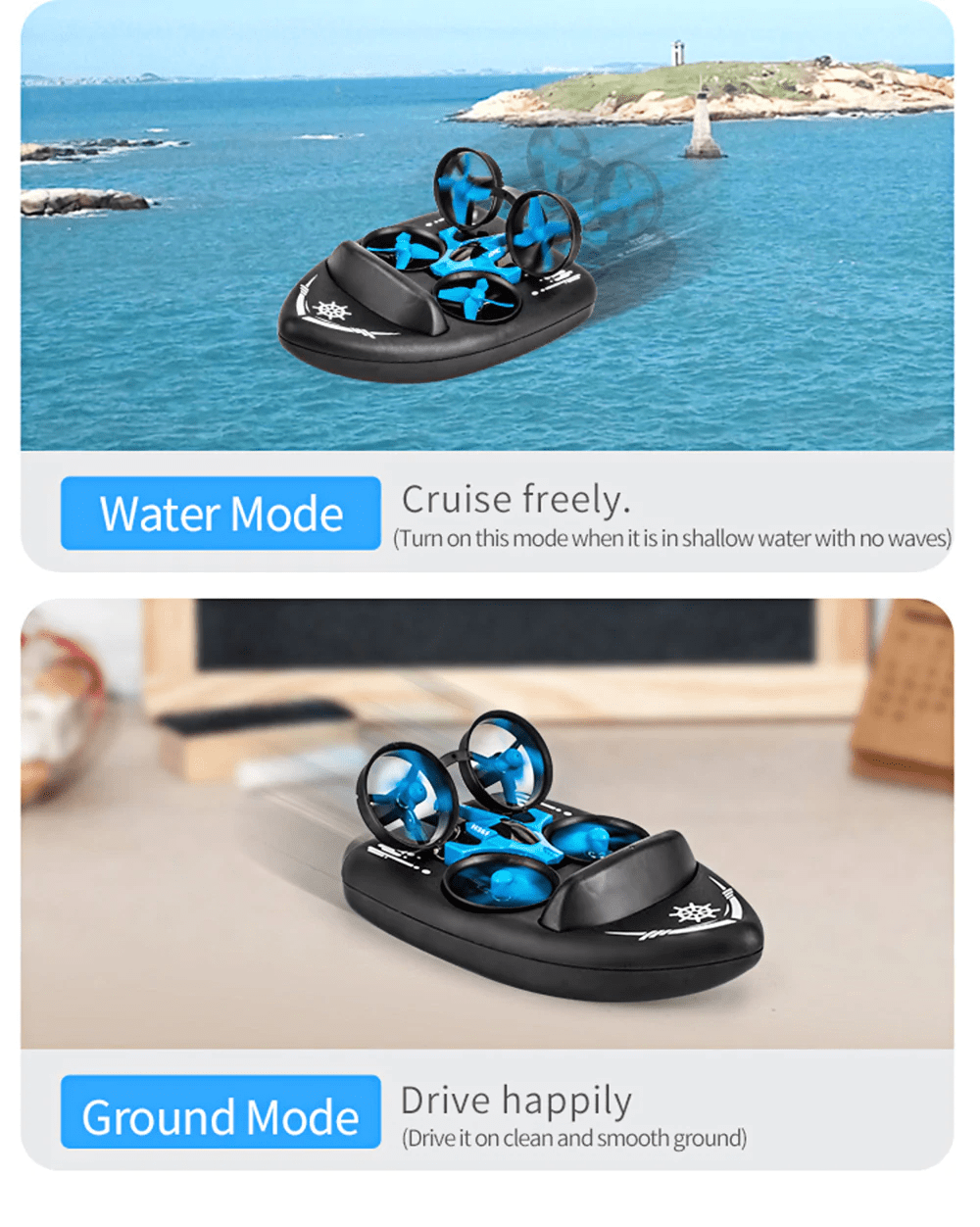 20190613162221 17311 - JJRC H36F 3 in 1 Mini RC Quadcopter Hovercraft Boat