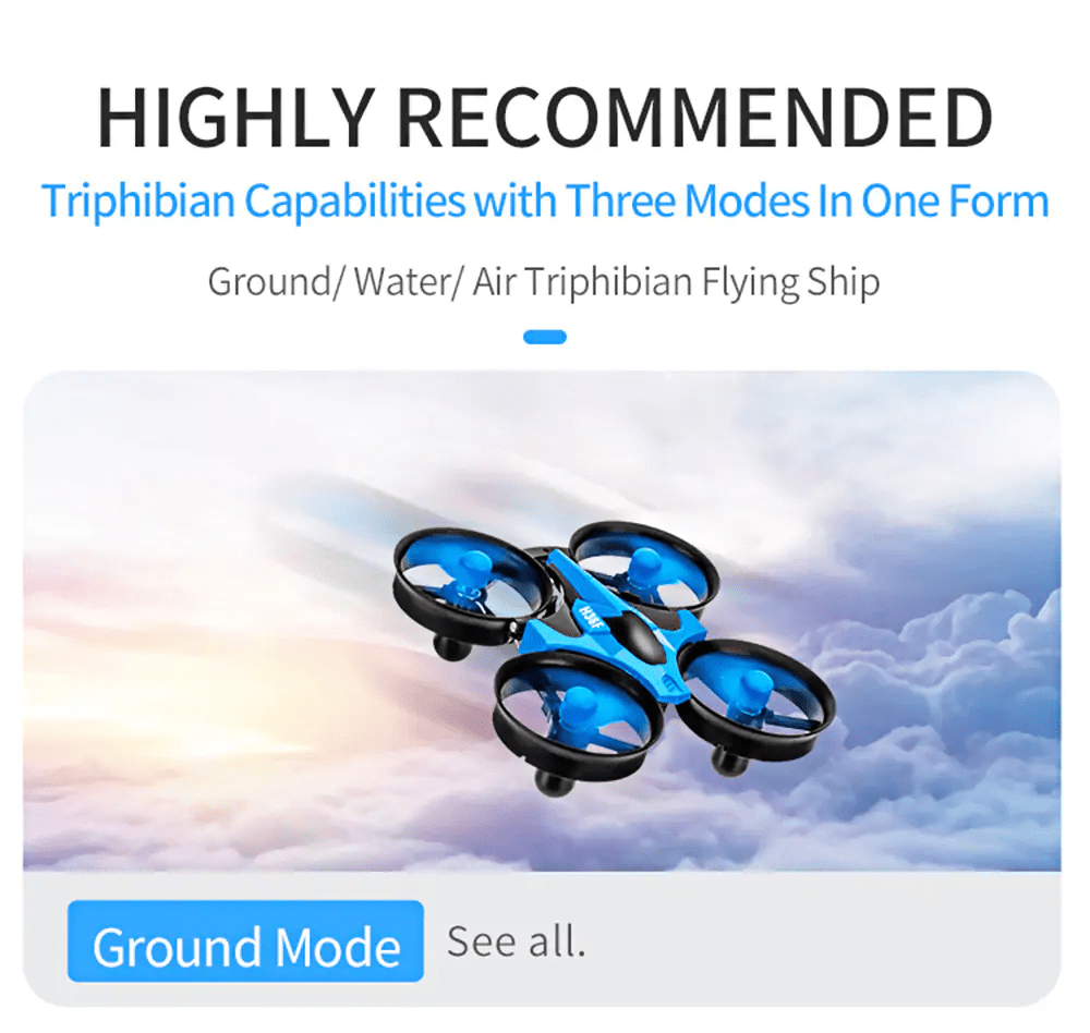 20190613162221 79358 1 - JJRC H36F 3 in 1 Mini RC Quadcopter Hovercraft Boat