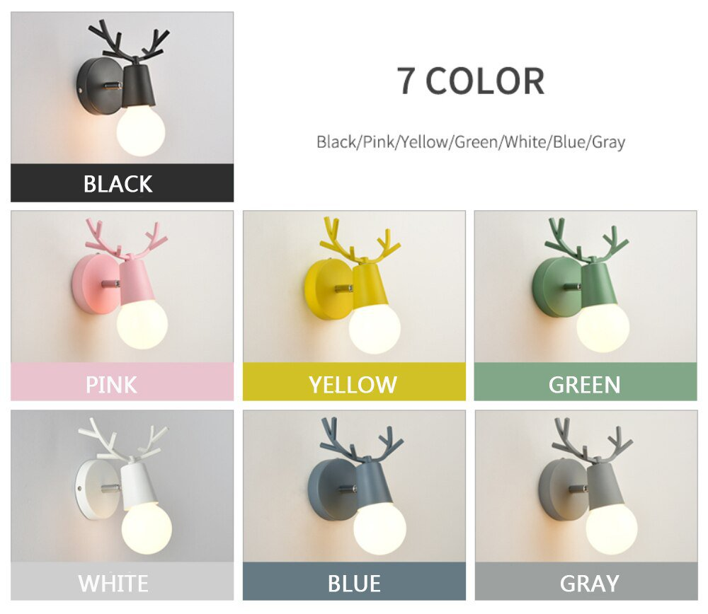Cartoon Deer Wall Lights 10 - Home
