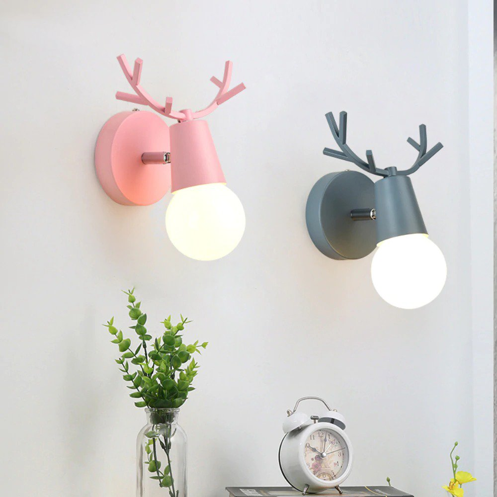 Cartoon Deer Wall Lights 11 - Home