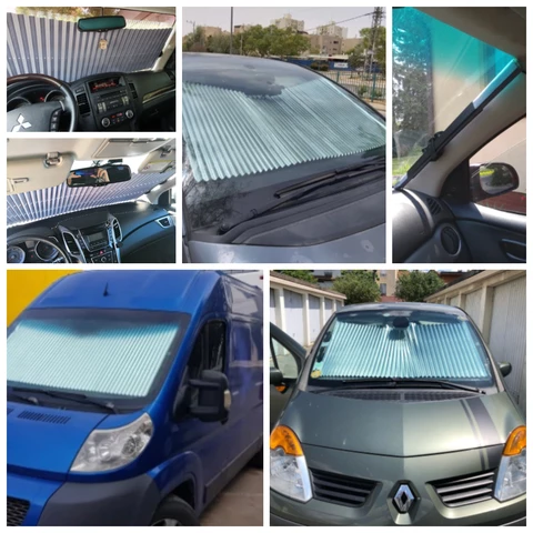 Retractable Car Windshield UV Protection Curtain 3