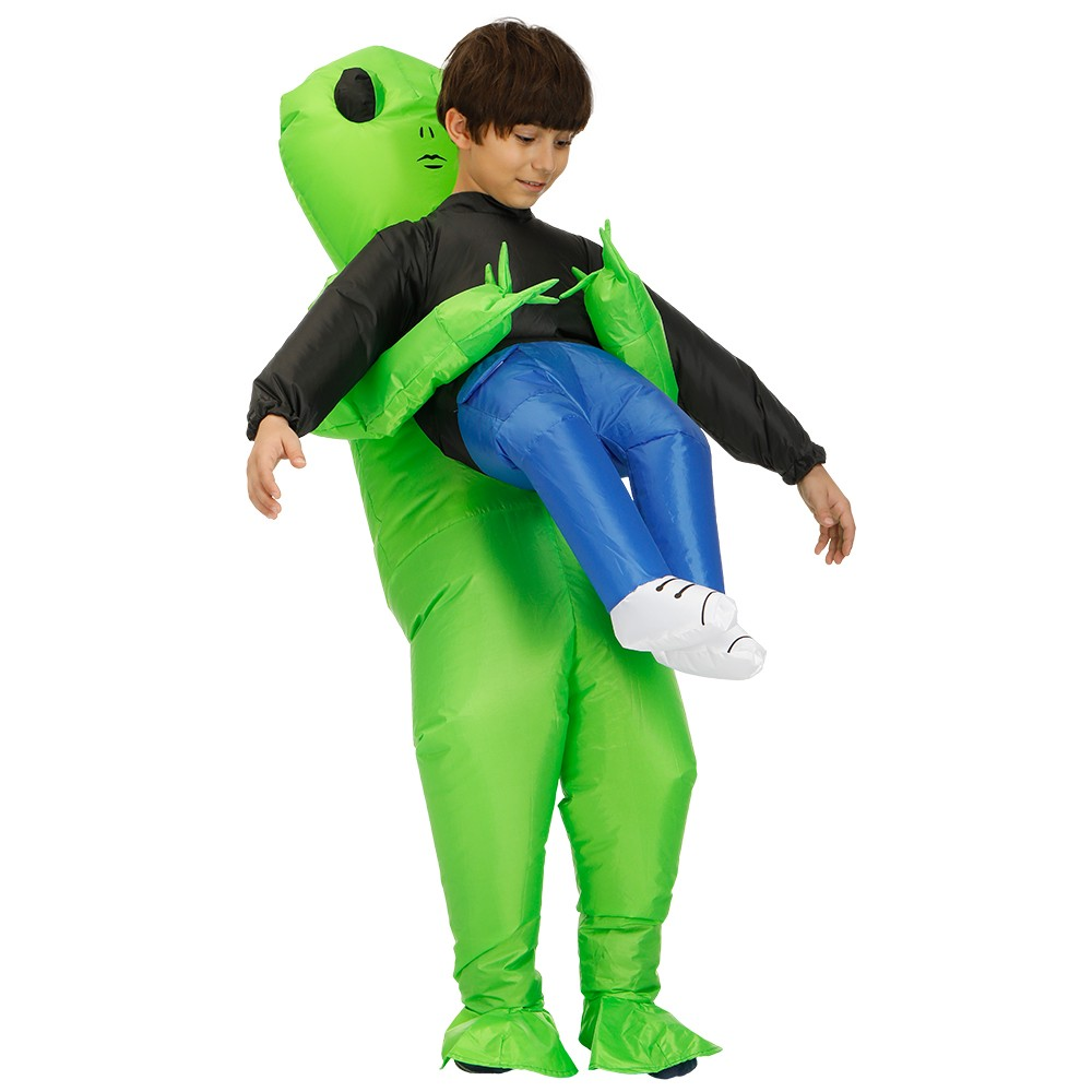 Green Alien Carrying Human Costume (3)
