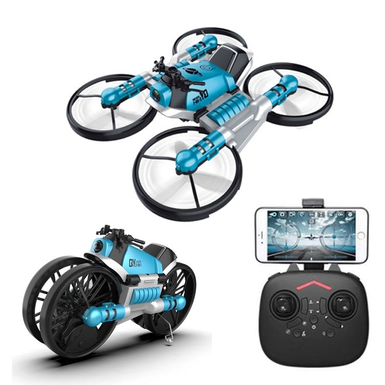 H084540d3711649b1a4adeaeb3df2ba3cl - 2 in 1 Deformation RC Folding Motorcycle Drone