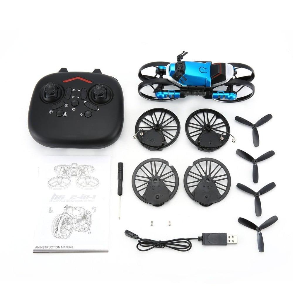 H5561a176f7f54679bb338b883c2244a9l - 2 in 1 Deformation RC Folding Motorcycle Drone