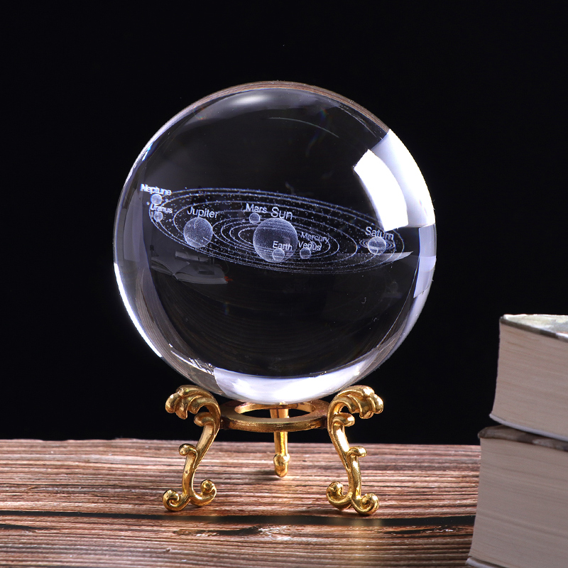 3D Crystal Planets Ball 2