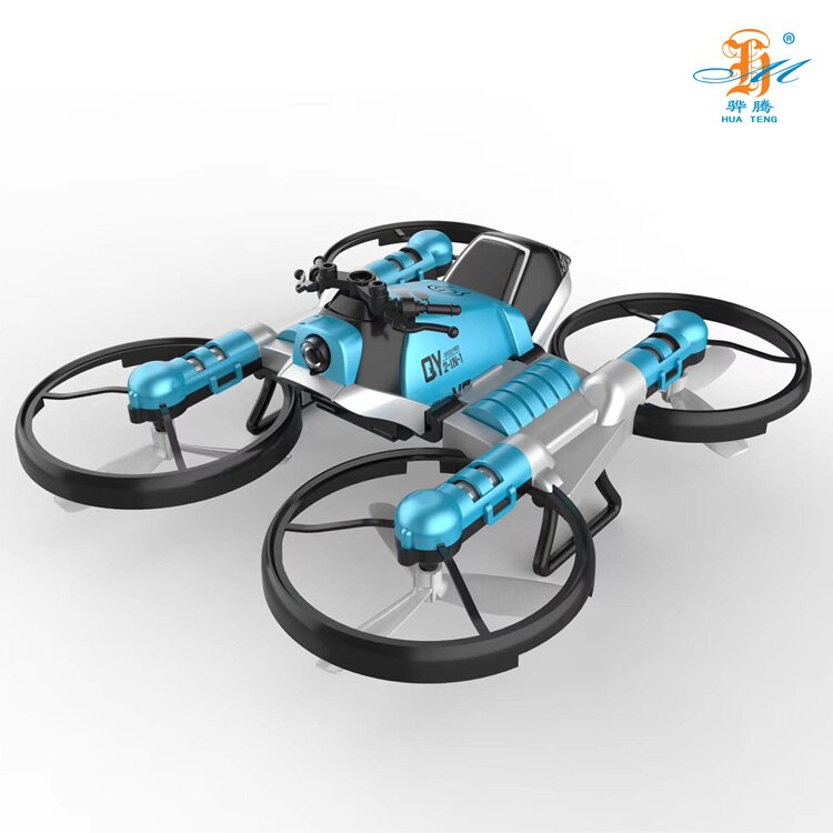 H6fcfa87e7854491aac827fd6cb4720b6h - 2 in 1 Deformation RC Folding Motorcycle Drone