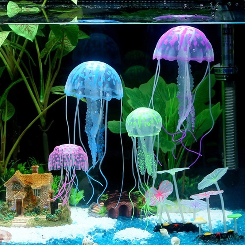 Artificial Swim Glowing Jellyfish 3