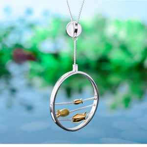 Moving Happy Fishes Pendant 4