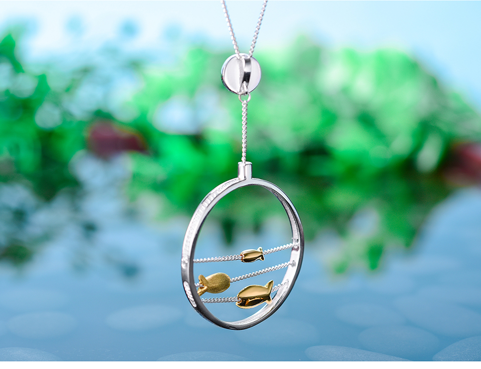 Moving Happy Fishes Pendant 7