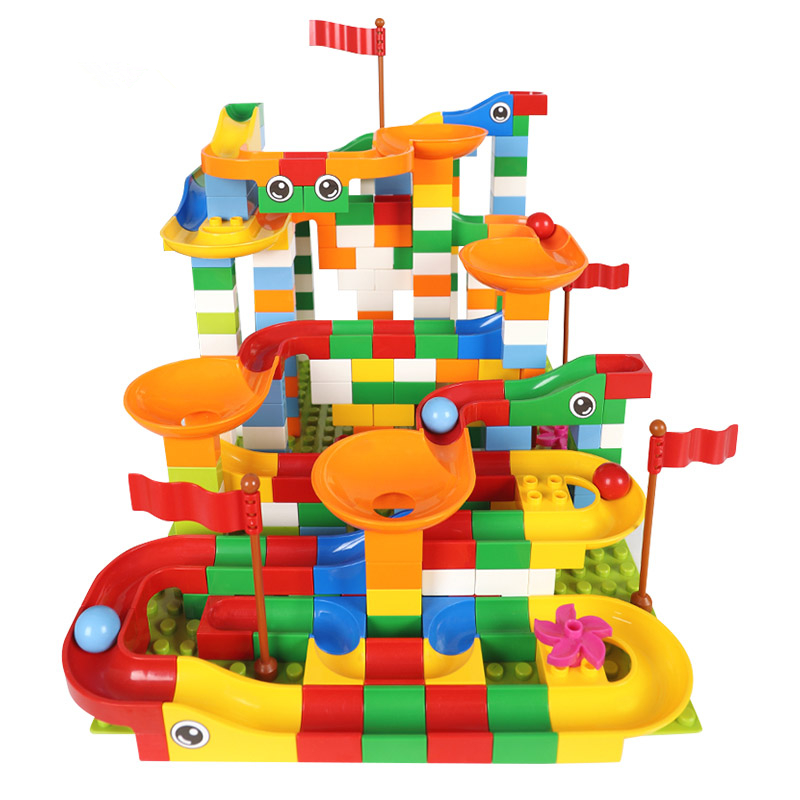 HTB1IXXcbs vK1Rjy0Foq6xIxVXaA - Marble Maze Balls Track Building Block