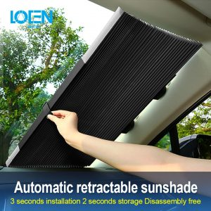 Retractable Car Windshield UV Protection Curtain 2