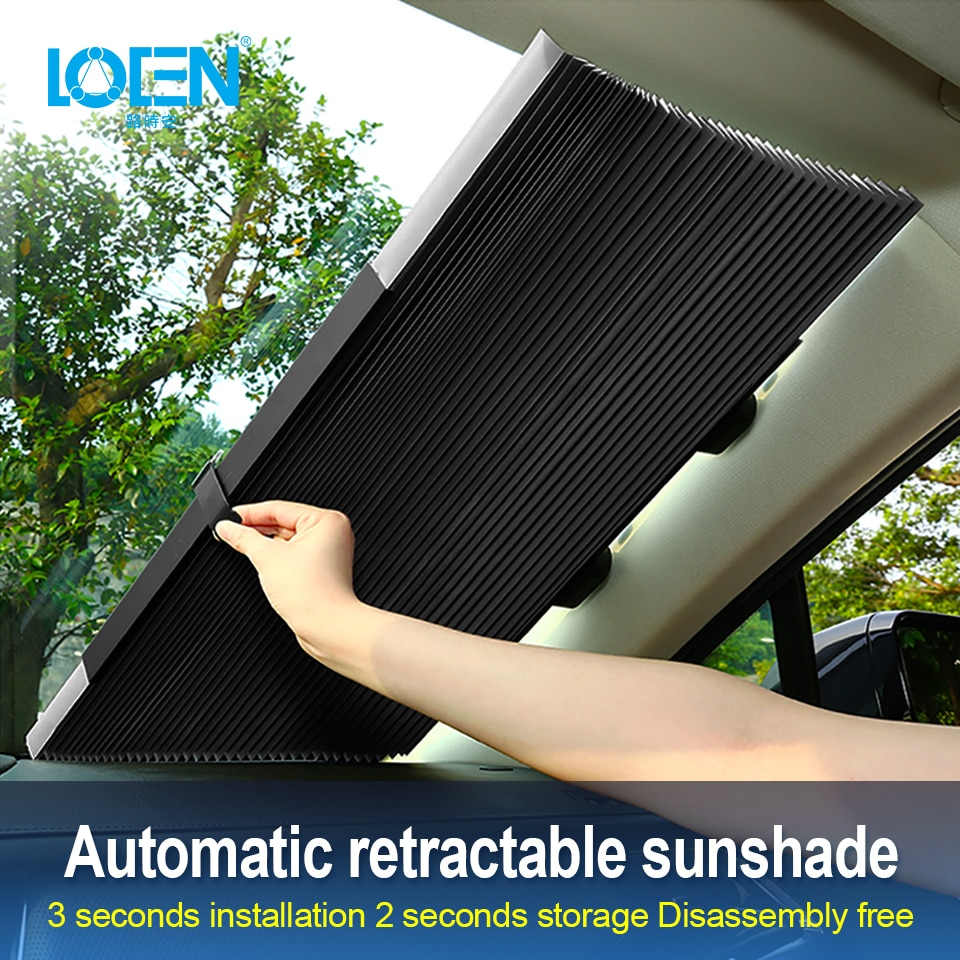 Retractable Car Windshield UV Protection Curtain 12
