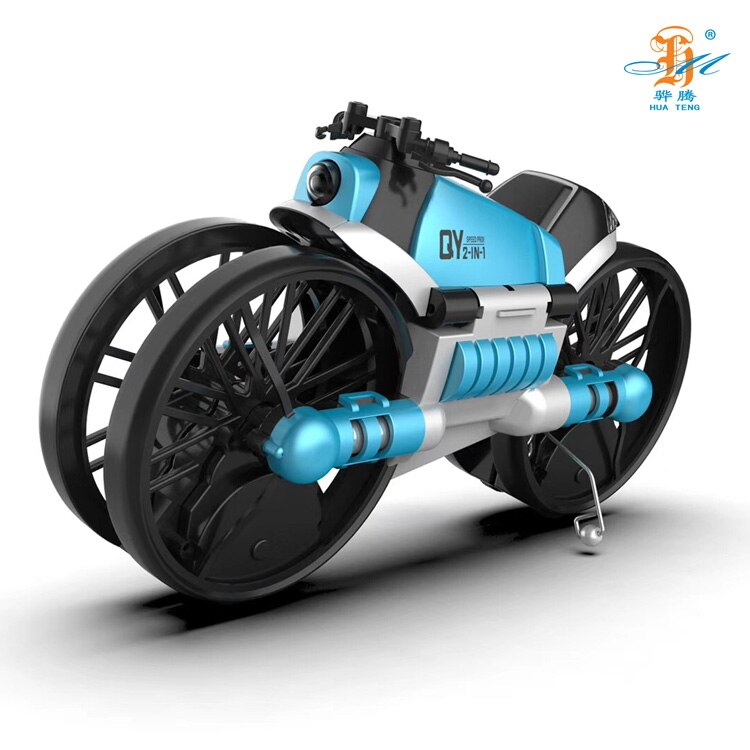 Hb8658779c3f649679bb08c1193d1e3dbU - 2 in 1 Deformation RC Folding Motorcycle Drone