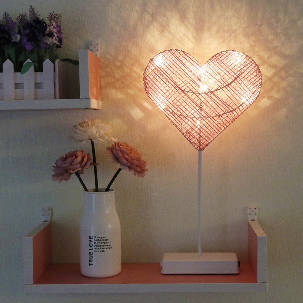 Heart And Star Shape Grass Rattan Woven LED Night Lamp (4)