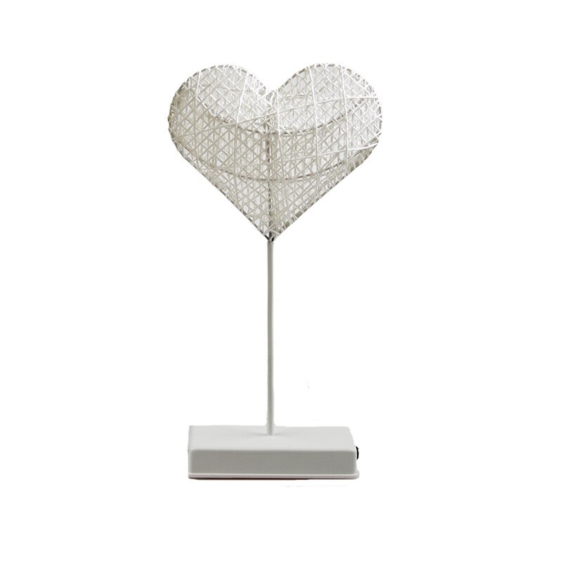 Heart And Star Shape Grass Rattan Woven LED Night Lamp (6)