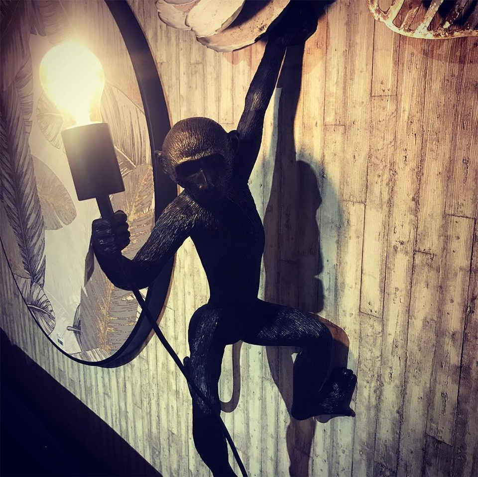 Monkey Lamp Hanging