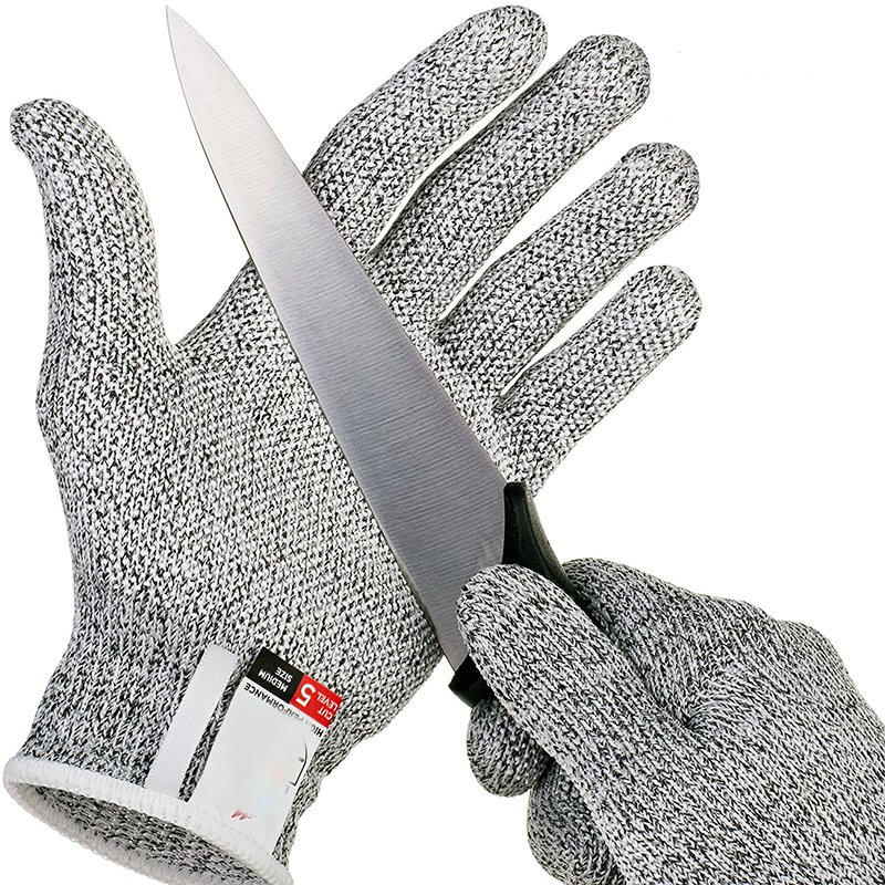 Anti cut Gloves Safety Cut Proof Stab Resistant Stainless Steel Wire Metal Mesh Kitchen Butcher Cut - Ultimate Kitchen Utensil Set 12Pcs