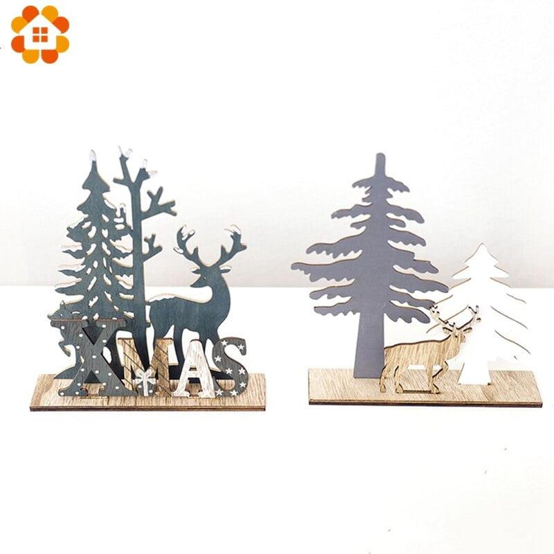 H04216e8a699a402ca52e73c4edc708e59 - Cute Wood Christmas Table Decoration