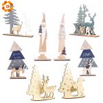Cute Wood Christmas Table Decoration 2