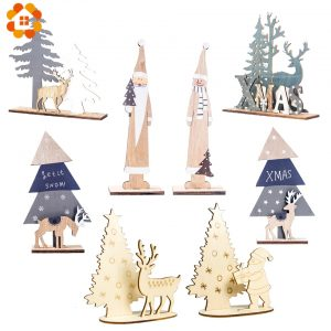Cute Wood Christmas Table Decoration 3