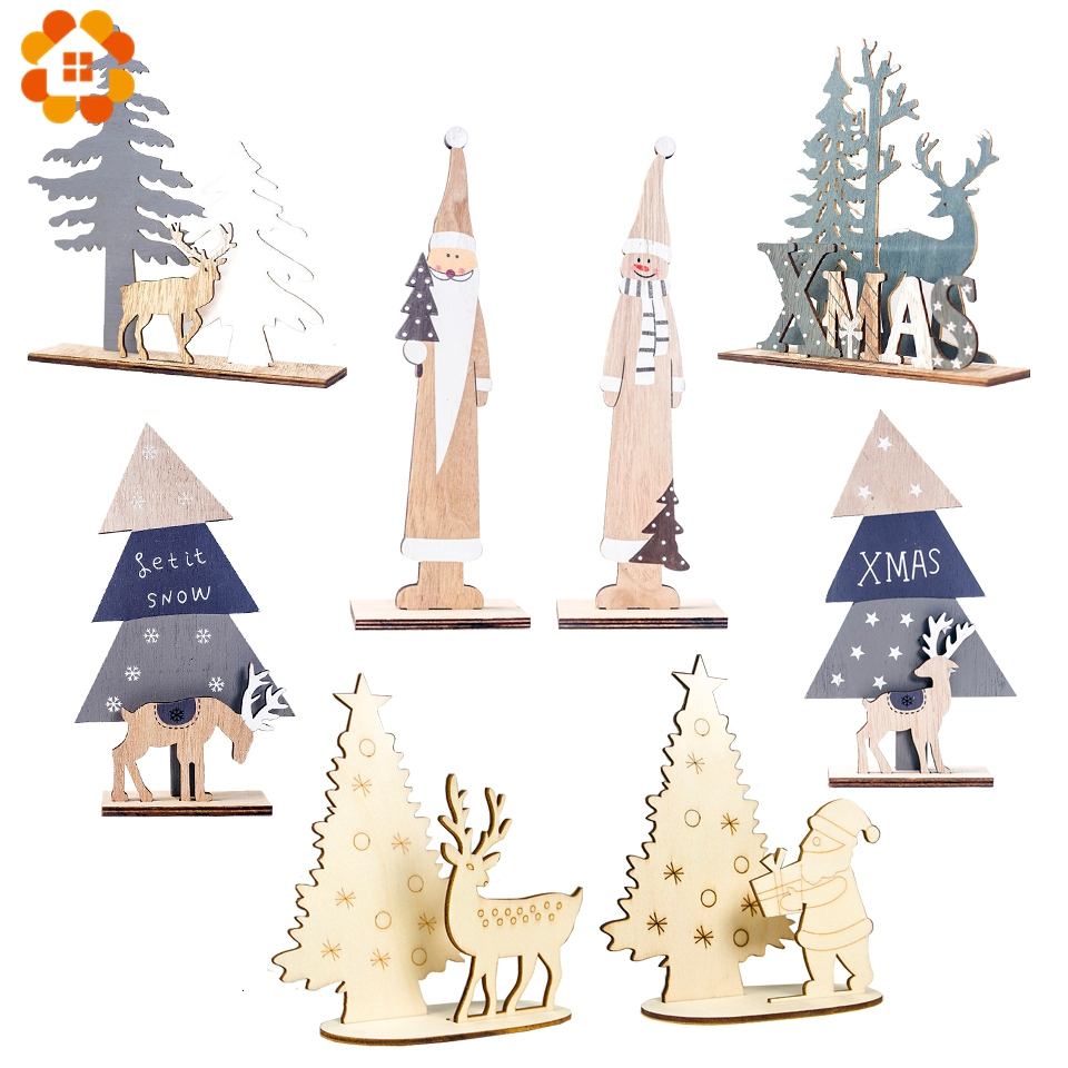 Cute Wood Christmas Table Decoration 3