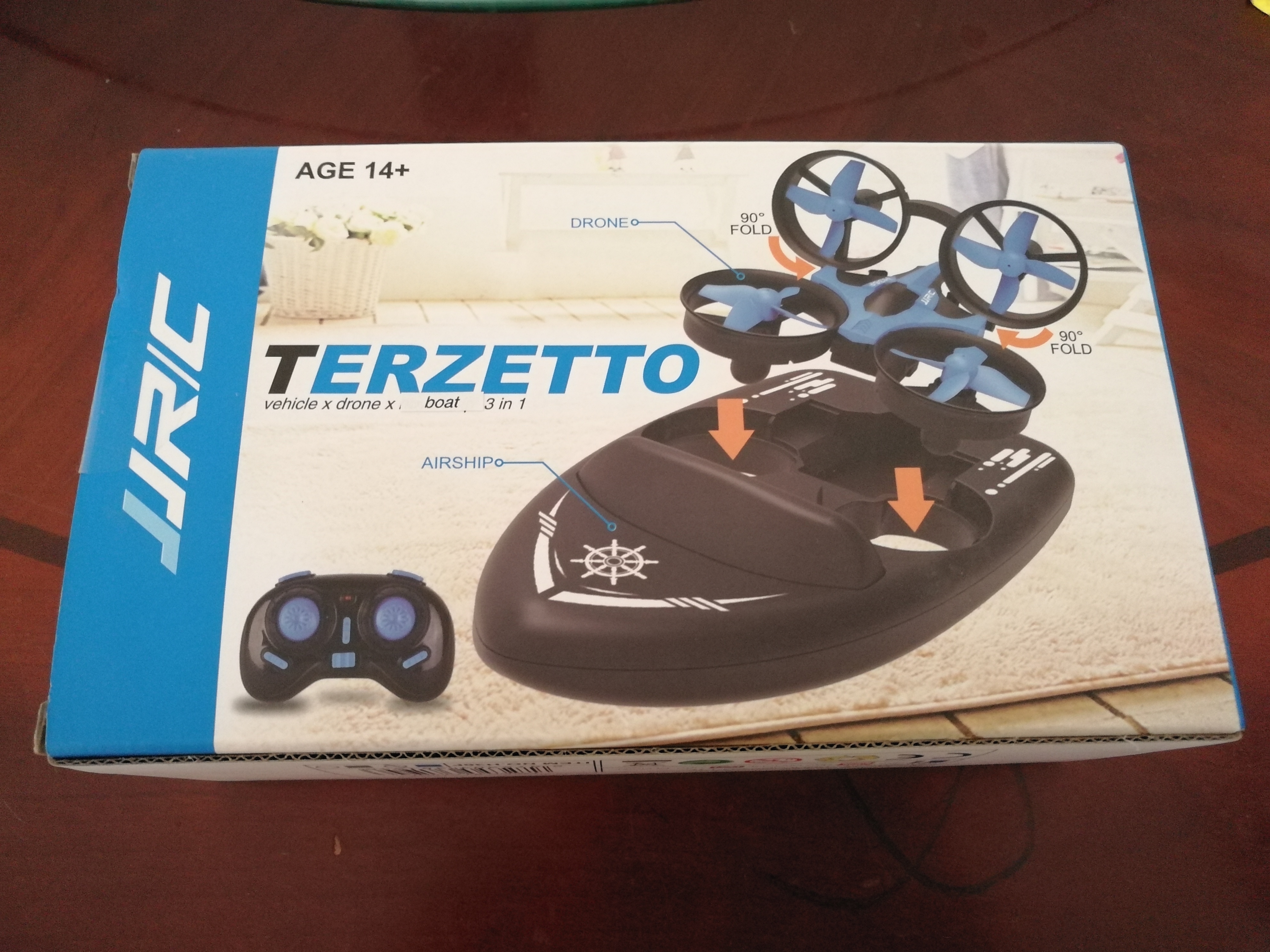 JJRC H36F 3 in 1 Mini RC Quadcopter Hovercraft Boat photo review