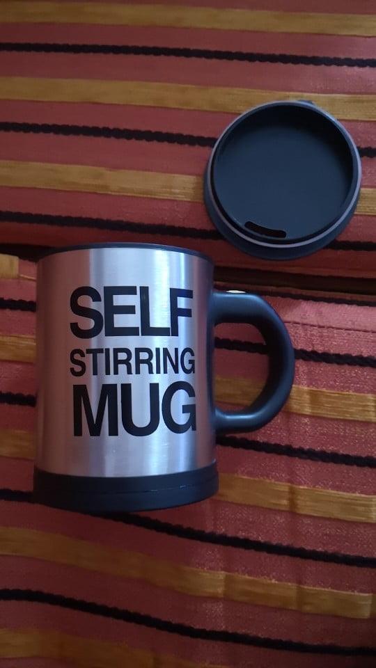Self Stirring Coffee Mug photo review