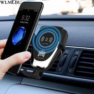 10W qi smart sensor car wireless charger For iPhone 9