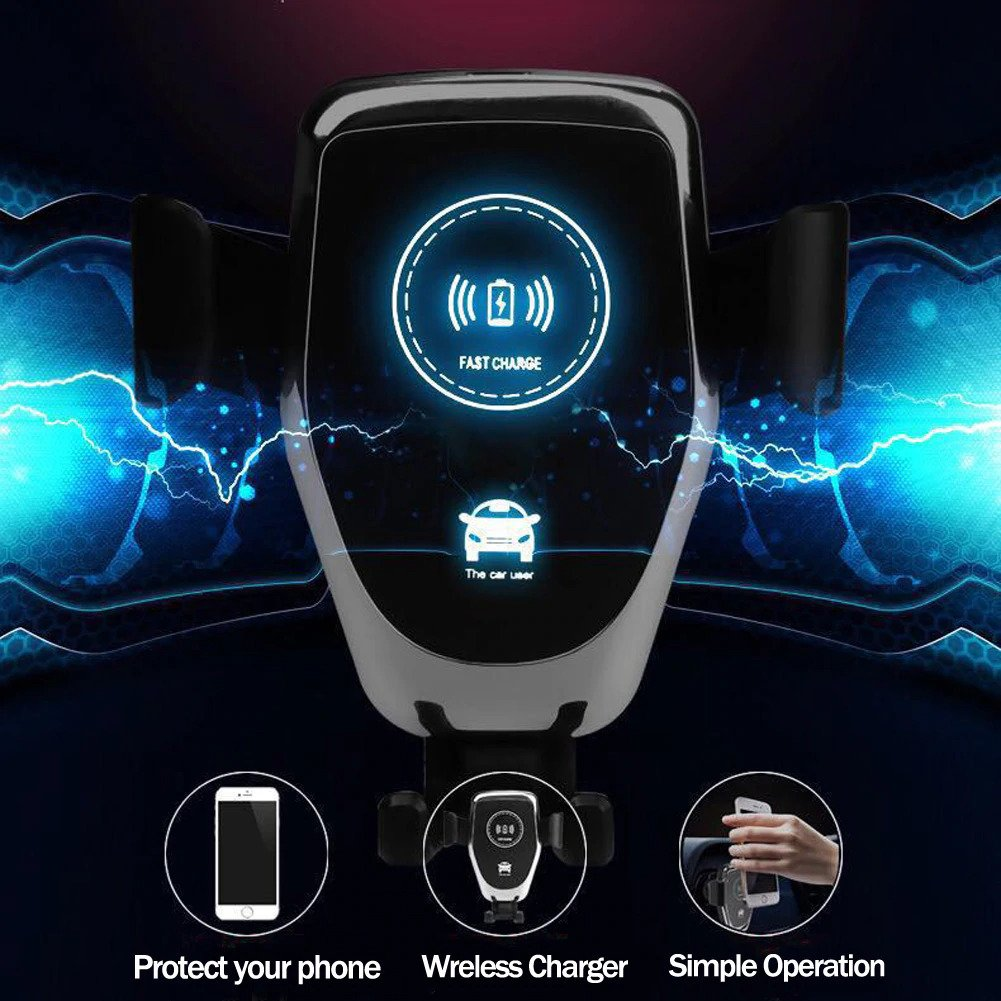 10W qi smart sensor car wireless charger For iPhone