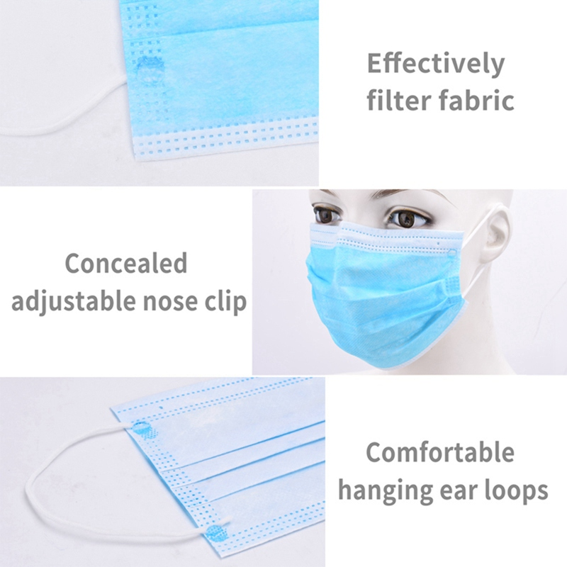 Perfessional Medical Mask Disposable 3-Ply Face Mask - 100pcs