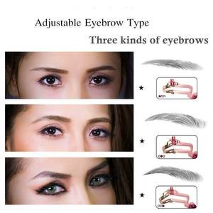 Eyebrow Shapes Stencil