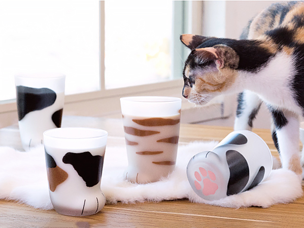 Creative Cat Paw Glass Cups