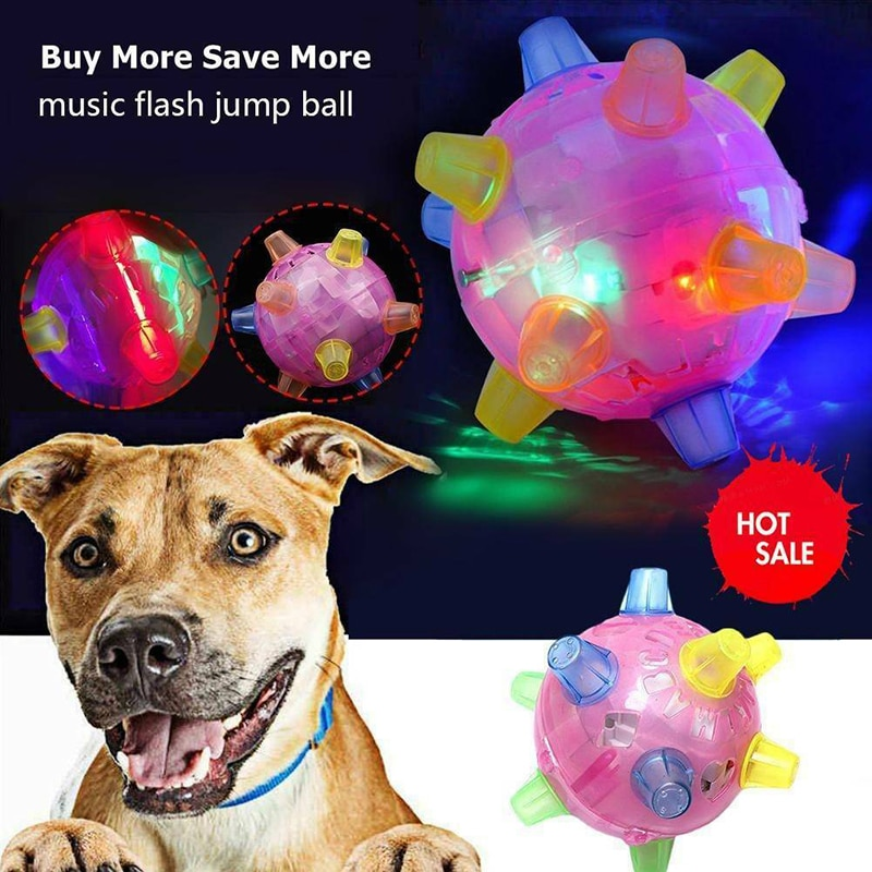 LED Light Jumping Activation Ball For Dogs