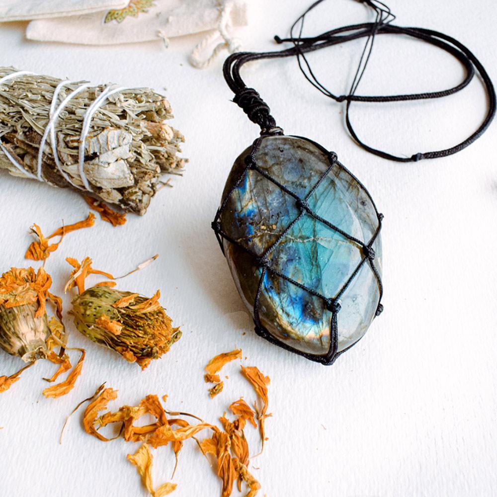 Dragon's Heart Labradorite Necklace