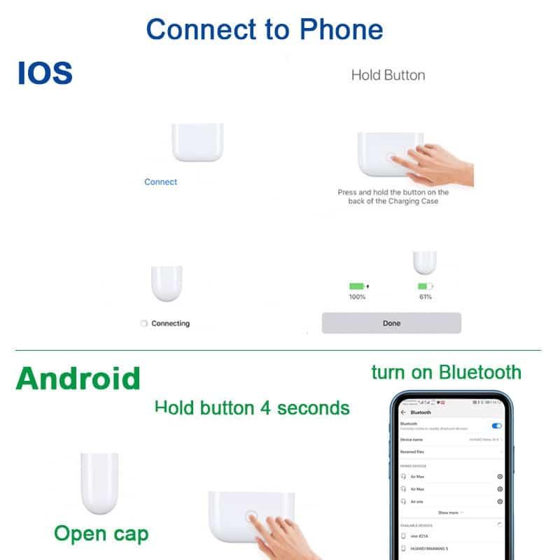 i200 TWS Bluetooth Earphone Wireless