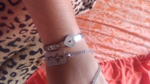 Heart Lock Bracelet & Key Necklace photo review