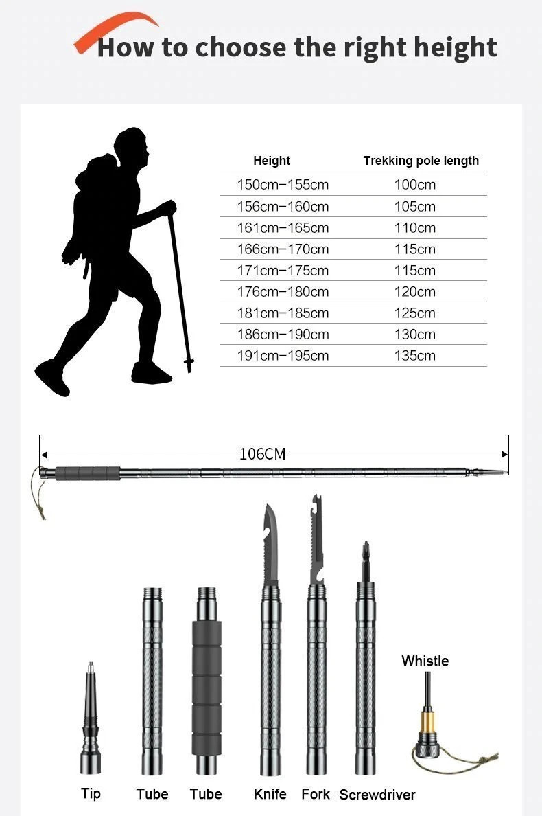 Multifunctional Tactical Walking Staff