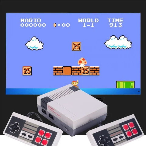 Classic NES Video Game Console with Built-in 600+ Games HD version (HDMI/AV Support) 2