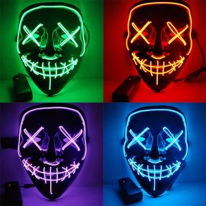 Clown LED Purge Masks