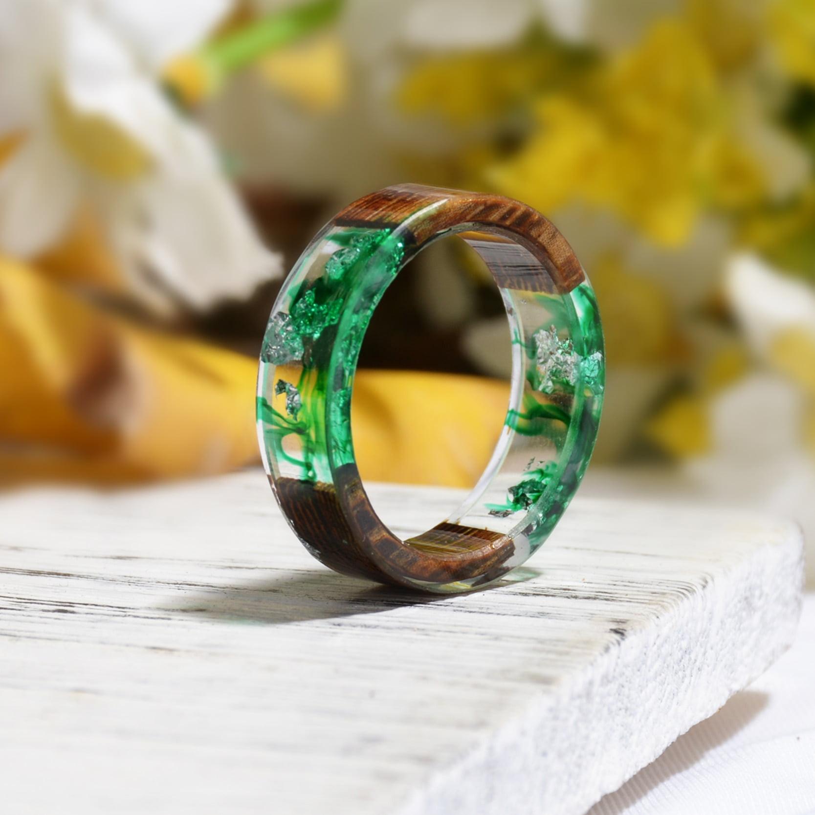 Flower Resin Rings