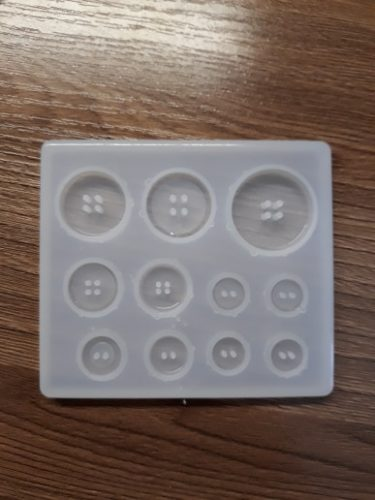 DIY Silicone Mold Resin Buttons photo review