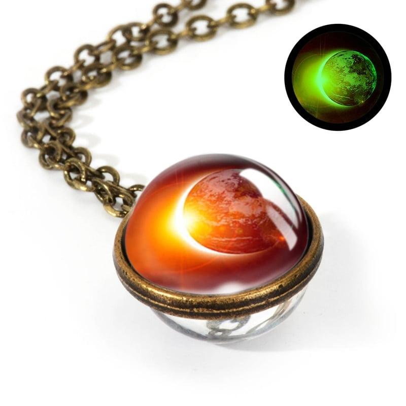 Space Glass Pendants Necklace