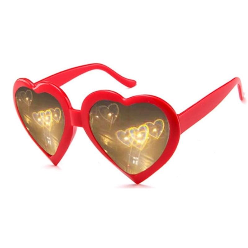 Heart Lenses Refraction Glasses