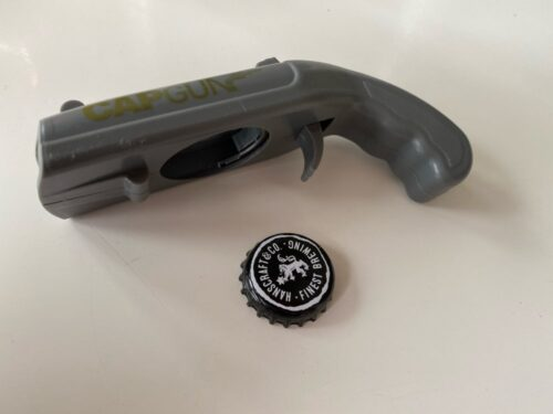 Cap Gun Bottle Opener photo review
