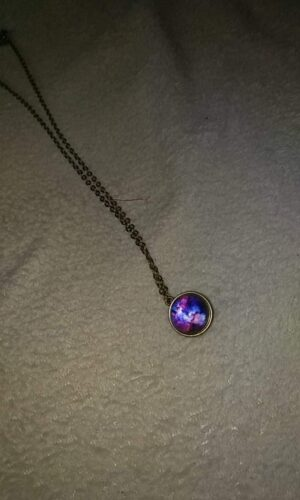 Space Glass Pendants Necklace photo review