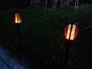 Led Solar Path Torch Light Dancing Flame photo review