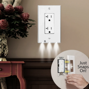 Outlet Wall Plate With Led Night Lights 1