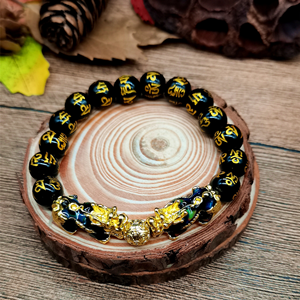 Feng Shui Black Stone Bracelet(Pixiu Bracelet)