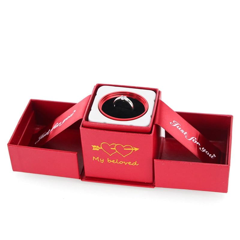 Wedding Rose Ring Boxes