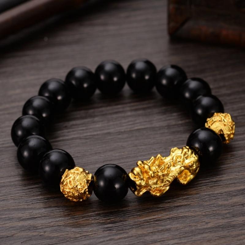 Pulsera De Piedra Negra Feng Shui